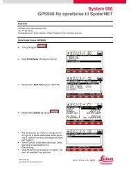 System 500 GPS500 Ny oprettelse til SpiderNET - Leica SmartNet ...