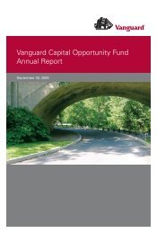 Vanguard Capital Opportunity Fund Annual Report September 30 ...