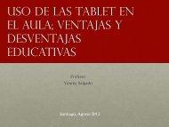 Uso de las tablet en el aula; ventajas y desventajas educativas
