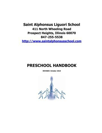 PRESCHOOL HANDBOOK - St. Alphonsus Liguori Catholic School