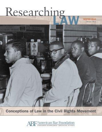 Vol. 23, No. 1, Winter 2012 - American Bar Foundation