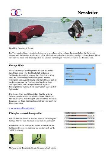 Newsletter Nr. 3, 20. September 2010 - Caligari Golf Equipment AG