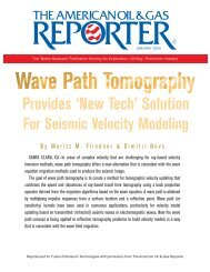 'New Tech' Solution For Seismic Velocity Modeling - Sigmacubed.com