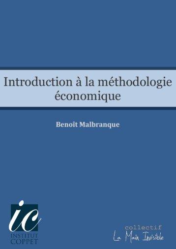 Introduction à la méthodologie économique - Institut Coppet