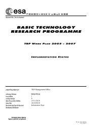 document title / titre du document TRP W ORK PLAN ... - Emits - ESA