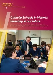 Investing in our Future - Catholic Education Commission of Victoria