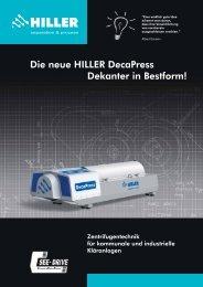 Neuer DecaPress Prospekt - Hiller GmbH