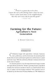 J. BISHOP GREWELL Farming for the  Future: Agriculture's ... - PERC