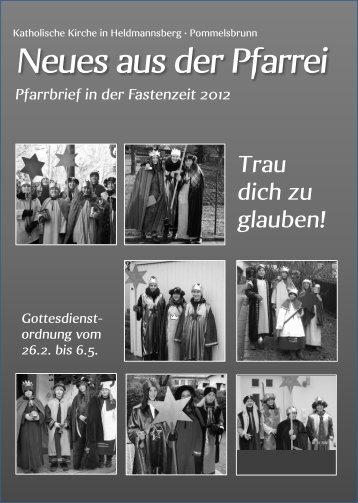 Trau dich zu glauben! - Pfarrei Heldmannsberg