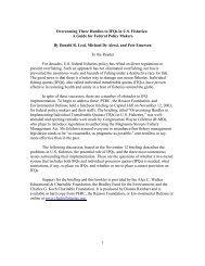 1 Overcoming Three Hurdles to IFQs in U.S. Fisheries: A ... - PERC