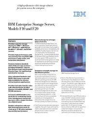 IBM Enterprise Storage Server, Models F10 and F20