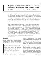 Peripheral pacemakers and patterns of slow wave propagation in ...