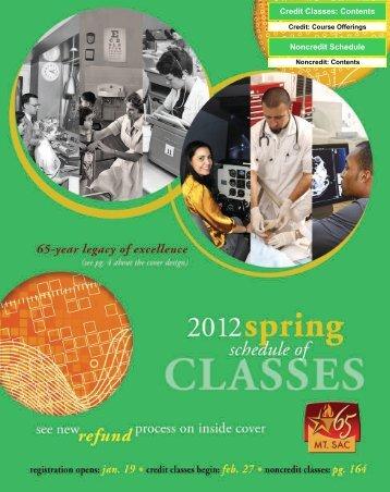 Complete Schedule of Classes - Mt. San Antonio College