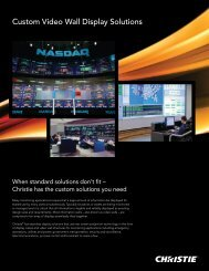 Customized display solutions - Christie Digital Systems