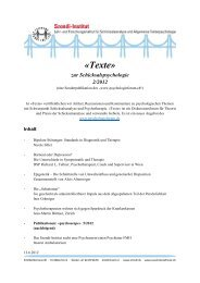 Publikationen: «psychoscope» 5/2012 - Szondi-Institut