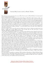 Comment Mary Cassatt est arrivée au Mesnil –Théribus