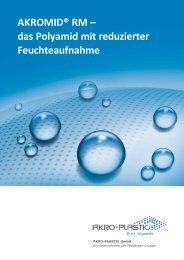 AKROMID® RM Broschüre A4 - AKRO-PLASTIC GmbH