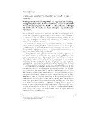 Seleksjon og sosialisering - Institutt for samfunnsforskning