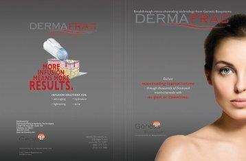 DermaFrac™ Product Brochure - Dermavista.com