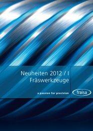 Neuheiten 2012/I Fraswerkzeuge - SEMACO tools and software