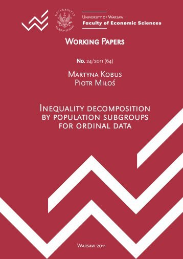 Inequality decomposition by population subgroups for ordinal data