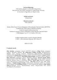 2009/1. - Mérei Ferenc Fővárosi Pedagógiai és Pályaválasztási ...