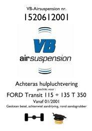 Achteras hulpluchtvering FORD Transit 115 ... - Topdrivesystem.it