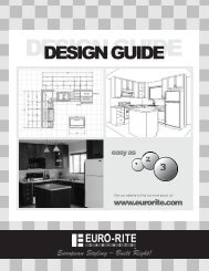 Kitchens and Bathrooms Design Guide - Euro-Rite Cabinets