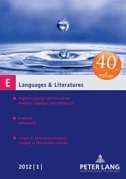 Languages & Literatures 2012 | 1 | - Peter Lang