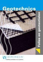 Folies en geotextielen brochure NL - Geotechnics