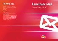 Candidate Mail best practice guide, January 2013 (PDF ... - Royal Mail