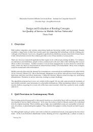Design and Evaluation of Routing Concepts for Quality of Service in ...