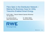 Fibre Optic in the Distribution Network
