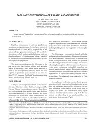 papillary cystadenoma of palate: a case report - Pakistan Oral and ...