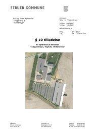 1 - Skabelon til § 10 tilladelse - Struer kommune