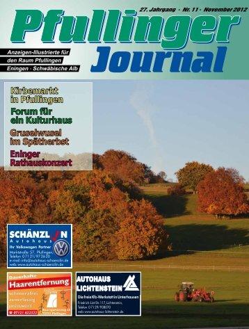 Ausgabe November 2012 - beim Pfullinger Journal