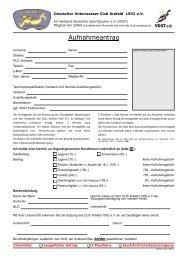 Aufnahmeantrag - DUC Krefeld