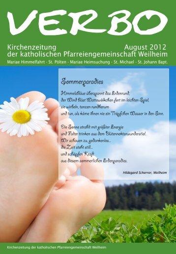 verbo-08-12 - Katholische Pfarreiengemeinschaft Weilheim