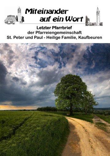 2012 Pfarrbrief Sommer.pub - Pfarreiengemeinschaft St. Peter und ...
