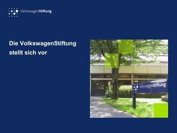 """Das Programm """"Pro Geisteswissenschaften"""" der VW"""