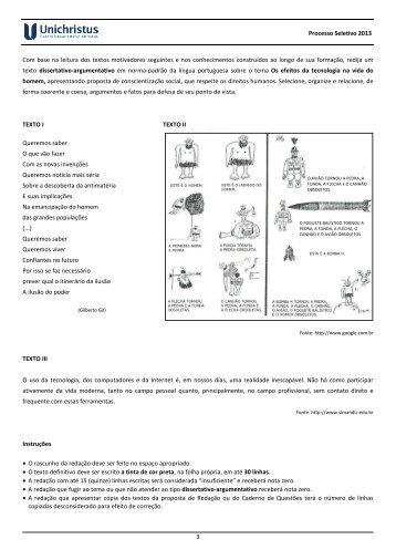 Prova de Conhecimentos Gerais - Espanhol - Faculdade Christus