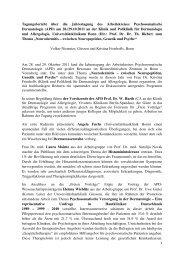 APD Jahrestagung 2011 - Arbeitskreis Psychosomatische ...