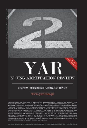YOUNG ARBITRATION REVIEW - Pérez-Llorca