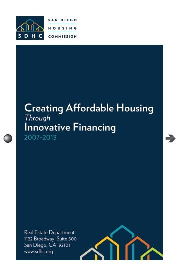 Creating Affordable Housing Through Innovative Financing, 2007