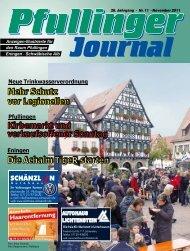 Ausgabe November 2011 - beim Pfullinger Journal