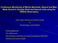 Continuous Monitoring of Marine Mammals, Natural and ... - PICES