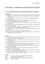 Grundliteratur für Studierende im Fach Englisch - Pädagogische ...