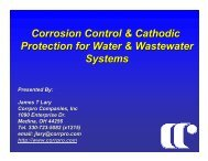 Corrosion Control & Cathodic Protection for Water ... - Ohiowater.org