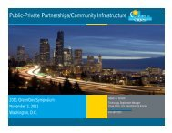 Public-Private Partnerships/Community Infrastructure