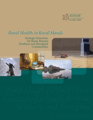 Rural Health in Rural Hands: Strategic Directions for Rural, Remote ...